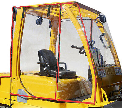 Forklift Rain Cover Cabin PVC Brand New Clear Fits 12000 to 20000 LBS