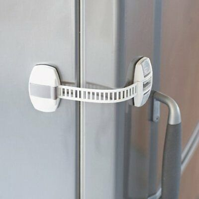 BabyDan Fridge Freezer Lock Cabinet Latch Adhesive Appliance Child Safety
