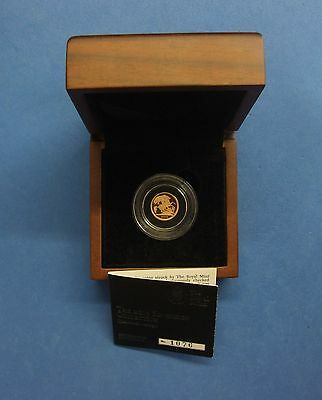 2013 Proof Gold Quarter Sovereign coin in Case with COA & Outer   (W7/1)