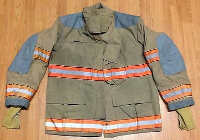 Vintage Globe Firefighter Bunker Turnout Jacket  48 x 32 1998