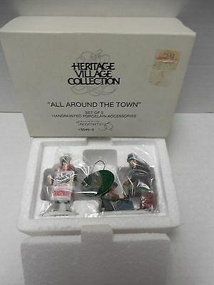 """Dept 56 Heritage Village Collection """"All Around the Town"""" Set of 2 #5545-0"""