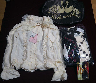 METAMORPHOSE lucky pack 5 items set Blouse & BLACK jumper skirt