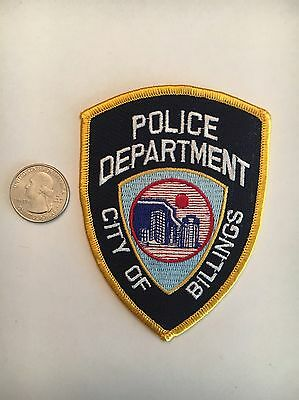 City Of Billings Montana Police Department Patch Mt