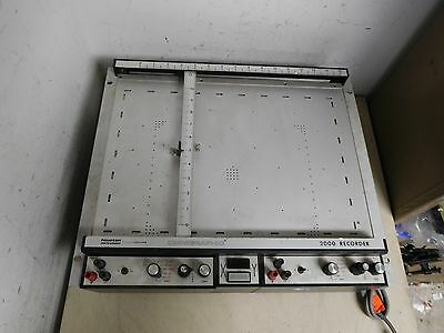 Houston Instruments Omnigraphic 2000 Graph X-Y Chart Recorder Plotter