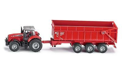 NEW!! SIKU Farmer Massey Ferguson Tractor with Trailer #1844 Scale 1:87 Toy