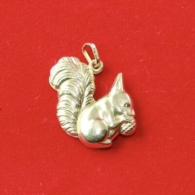 9ct Yellow Gold Squirrel Charm *3D Charm*