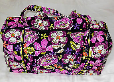 NWT Vera Bradley SMALL DUFFEL Travel Bag in PIROUETTE PINK Carry–on 14418-167