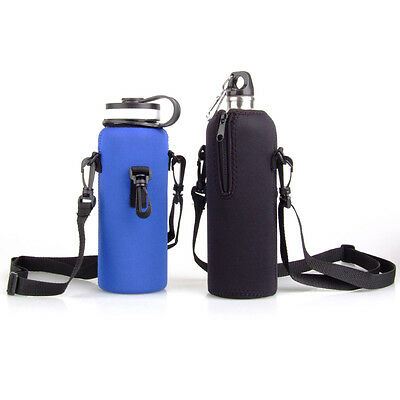 1L Outdoor Sport Insulated Kettle Steel Sports Drink Water Bottle Cover Pouch