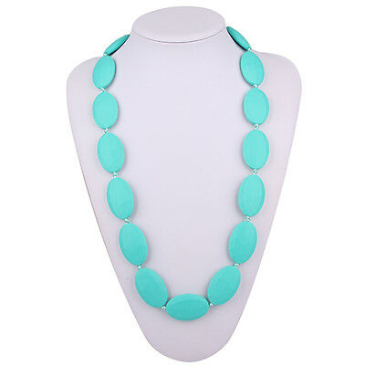 Silicone Teething Necklace For Mom To Wear - Stylish Nursing Necklace, BPA Free