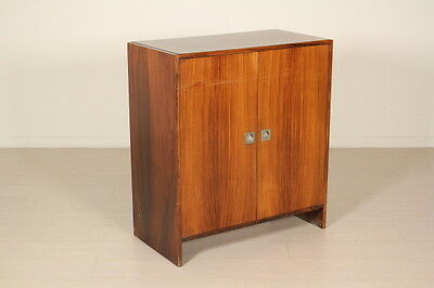 Small Cabinet Rosewood Veneer Vintage Manufactured in Italy 1960s