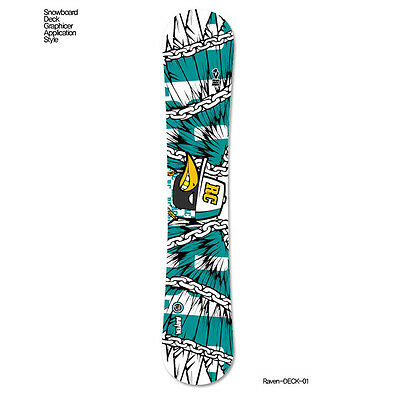 Skin Decal For Snowboard Deck Tuning Stickers Customize Graphicer Design RAVEN