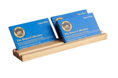 Wooden Business Card Holder – 12mm Thick - 2 Abreast – 1 to 4 Slots