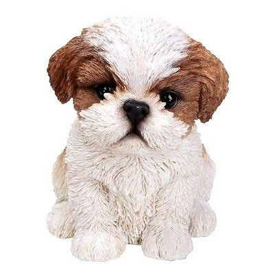 Brown Shih Tzu Puppy New Realistic Intricately Detailed Life Like Dog Figurine