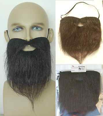 FANCY DRESS BLACK BEARD. (Thick And Hairy) PIRATE, COWBOY, HIPPY, PANTO