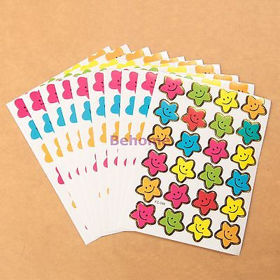 240 Star Reward Stickers Kids Motivation Merit Praise School Teacher Labels