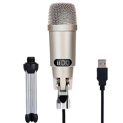 TONOR Professional USB Podcast Condenser Microphone PC Recording MIC with Stand