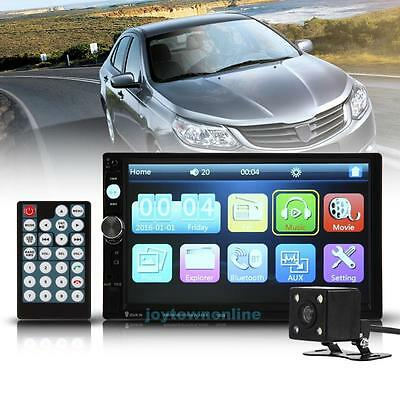 Car 7inch 2Din Digital Bluetooth HD Touch Screen Radio MP5 Player+Rear Camera