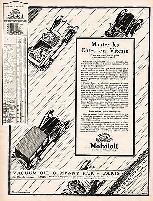 MOBILOIL Vacuum Oil Company Car Gargoyle French Vintage Print Ad 1926 Cousyn