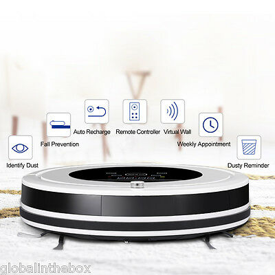 R800 Vacuum cleaner robot Robotic Automatic Carpet Cleaner Sweeper Recharging UK