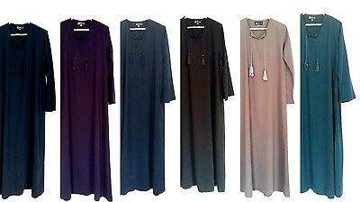 Polycotton soft plain AUTUMN ABAYAS WITH or WITHOUT TASSELS