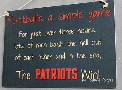 Simple Game New England Patriots Sign Handmade Football Bar Jersey Tickets Cards