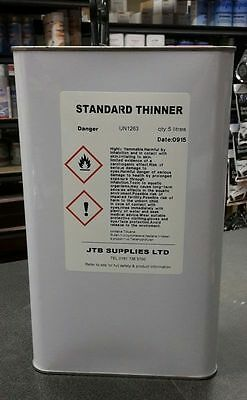Standard Cellulose Thinners 5 Litres Gun Cleaner Paint Primer 5L FP