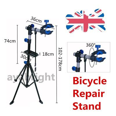 Folding Bicycle Maintenance Repair Stand Pedal Bike Cycle Mechanics Workshop AYA
