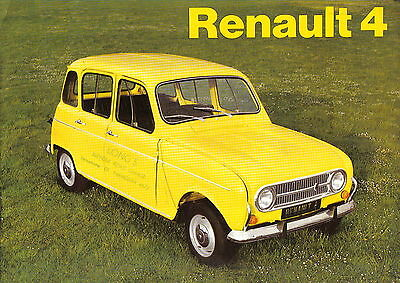 Renault 4 Standard & De Luxe Estate & Van 1973-74 Original UK Sales Brochure