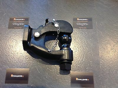 Very heavy duty Black Pintle tow Bar Hitch Hook off road recovery 4x4 8 Ton