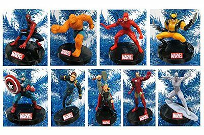 Marvel Super Hero Holiday Christmas Ornament Set - Unique Shatterproof Plastic
