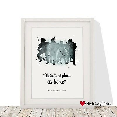 Wizard Of Oz Word Quote Watercolour Art Print-Wall Art-Gift-Nursery New Home