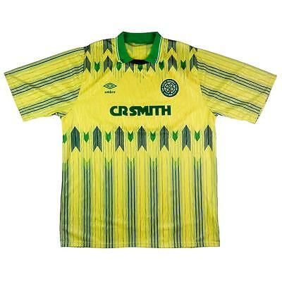 1989-91 Celtic Maglia Away XL Shirt Jersey Maillot Trikot Camiseta retro