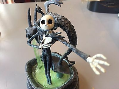 "Very Rare The Nightmare Before Christmas Jack Lighted Figurine 9"" Applause Works"