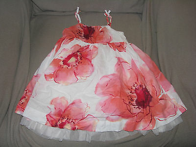 baby gap watercolor floral flower strappy girls dress 18-24 tulle beach wedding