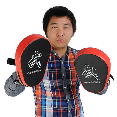 2X Boxing Mitt MMA Target Hook Jab Focus Punch Pad Training Glove Karate New