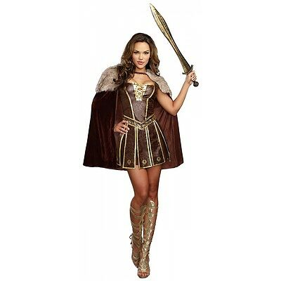 Xena Warrior Princess Costume Adult Medieval Halloween Fancy Dress