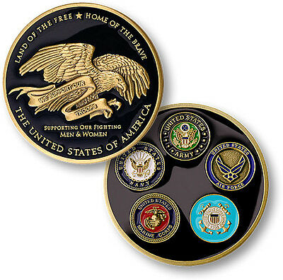 We Support Our Troops Challenge Coin