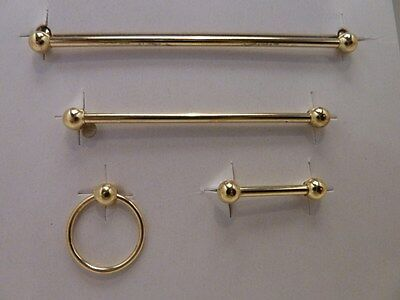 Dolls House Miniature 1:12 Scale Bathroom Brass Towel Rail Set (BA157)