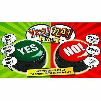 Yes or No Buzzers Novelty Gift Set with 14 Phrases Sound Fun