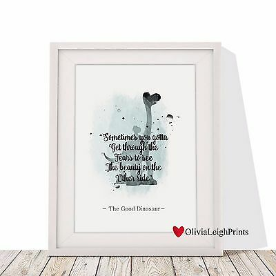 The Good Dinosaur Word Art Quote Watercolour Art Print-Wall Art-Gift Nursery