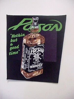 "set of 2  "" POISON ""  VINTAGE BACK PATCH"