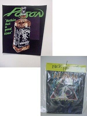 set of  DEF LEPPARD  +POISON  VINTAGE BACK PATCH - TOTAL 2 PATCHES -NEW