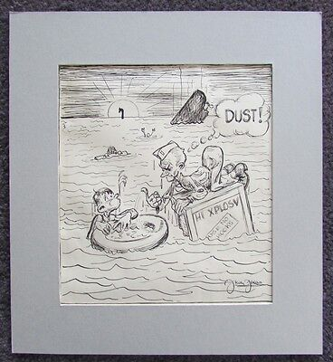 KELLY FREAS DRAWING SIGNED DUST s