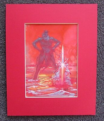 KELLY FREAS DRAWING SIGNED NEPTUNE 1 MISSILE SUB PRELIMINARY s
