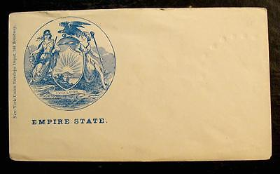 "Civil War Patriotic Cover-""empire State"" State Seal Of New York"