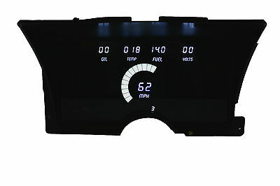 Chevy Truck Digital Dash Panel for 1992-1994 Gauges Intellitronix White LEDs