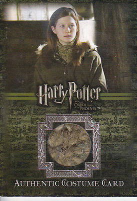 Harry Potter Ginny Weasley Bonnie Wright Costume Card OOTP C5 Celebrity Worn