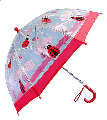 Dome Clear red Cute Lady Bug Umbrella by Foxfire