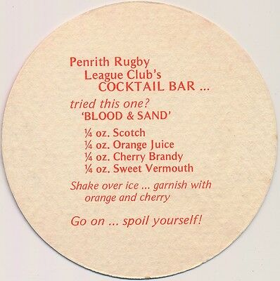 Coaster: Penrith Rugby League Club's Cocktail Bar