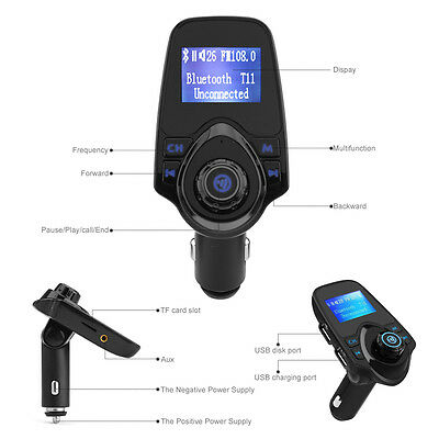 Bluetooth Auto FM Transmitter Freisprechanlage Car MP3 Player USB SD AUX